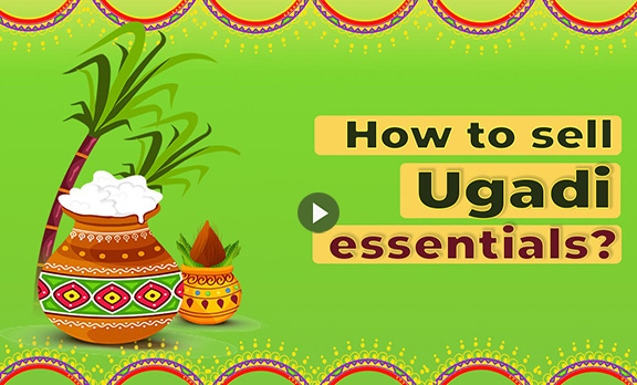How to sell Ugadi essentials?